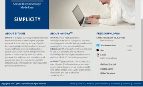 mSIGNA website