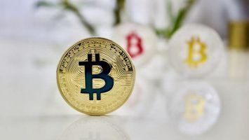 Cryptocurrency physical colored bitcoin coins