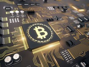 Printed circuit board with bitcoin