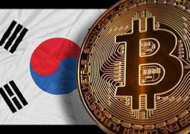South Korea Ban Bitcoin on trading, Not Illegal, Ban BTC, block chain technology for crypto currency, 3D Rendering