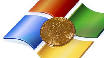 bitcoin and windows background.
