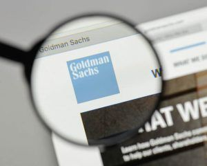 Goldman Sachs logo on the website homepage.