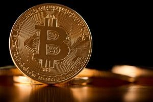 Golden bitcoin as main digital currency worldwide.