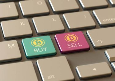 Computer keyboard with bit-coin buttons Buy & Sell. For professional crypto currency traders.