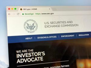 Website of The U.S. Securities and Exchange Commission or SEC, an independent agency of the United States federal government.