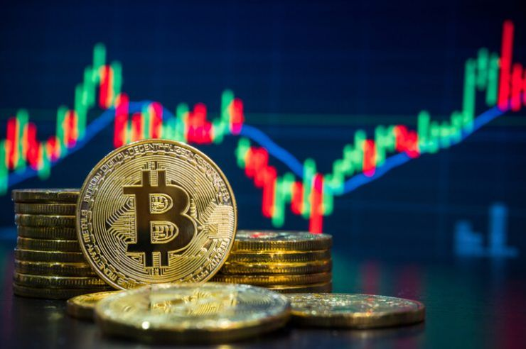 Bitcoin and cryptocurrency investing concept.