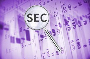 SEC on background with numbers.