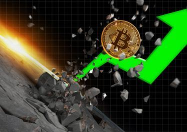 Bitcoin Price Boosts Crypto Market Value to New All-Time High with Green Arrow Graph