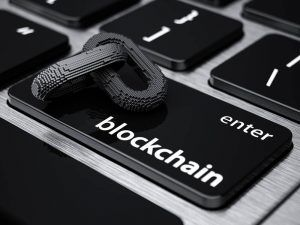 Blockchain on keyword button.