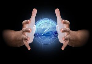 Man holding Zcash.
