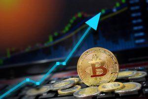 Bitcoin price growing.