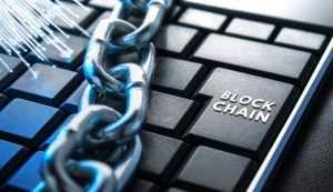 The concept of closure, protection. Technology blockchain, encryption of Internet traffic