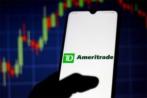 An image featuring TD Ameritrade app opened on a phone