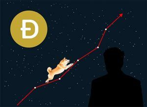 An image featuring dogecoin growth concept