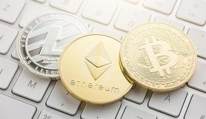 An image featuring virtual currency concept