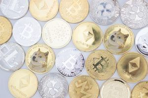 An image featuring multiple crypto coins next to each other