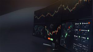 An image featuring Crypto Charting concept on a big monitor