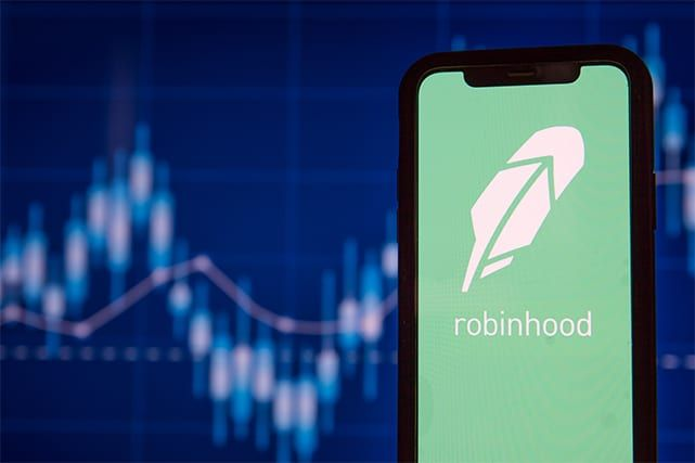 An image featuring the Robinhood Trading App