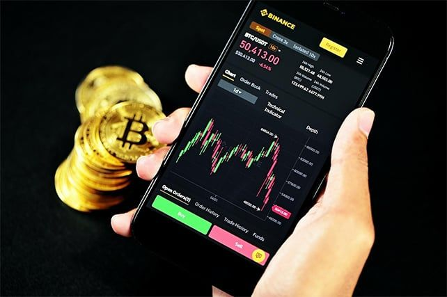 An image featuring crypto market concept
